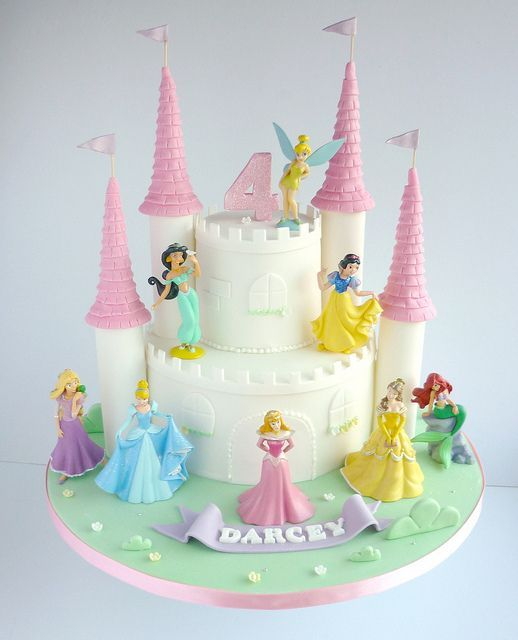 11 Disney Princess Castle Cakes For Girls Photo Princess Castle