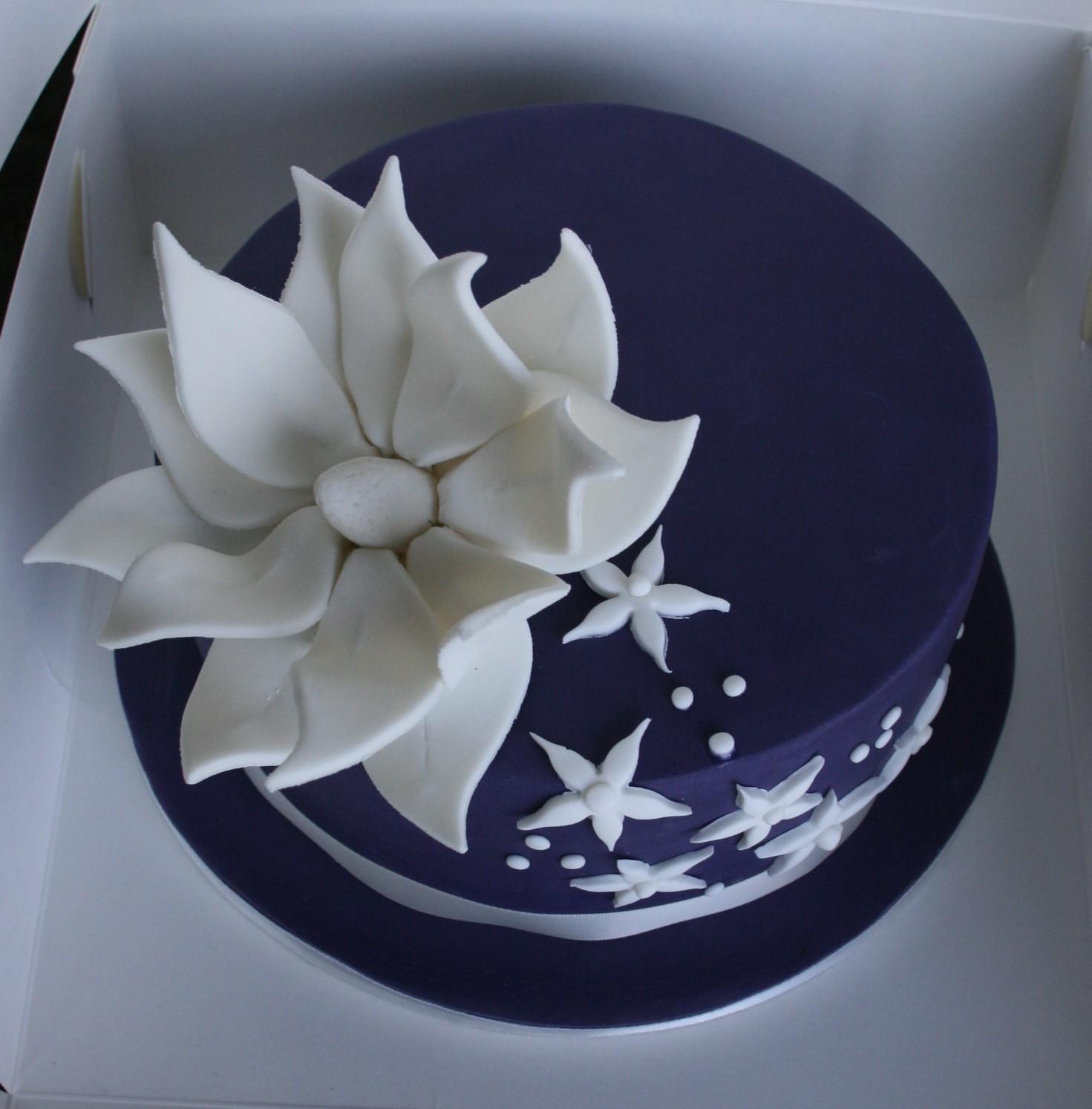 Elegant Happy Birthday Cake