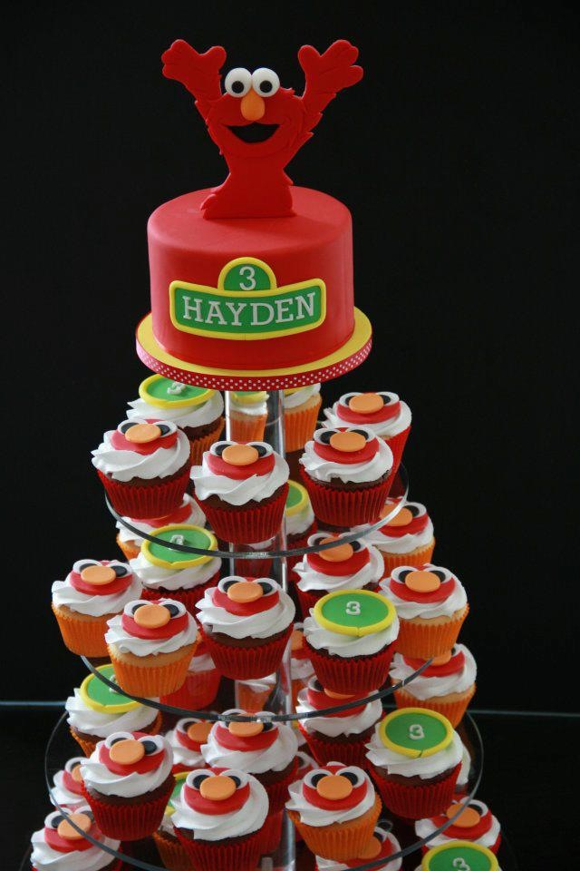 Excellent 11 Home Made Elmo Cupcakes Photo Elmo Cupcake Cake Ideas Elmo Personalised Birthday Cards Cominlily Jamesorg