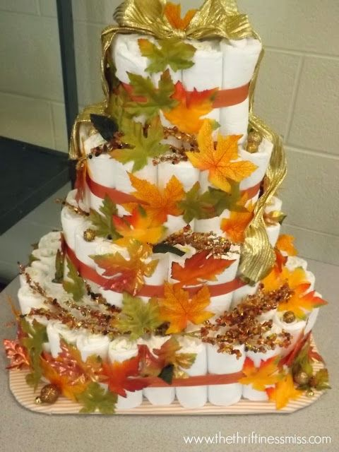 11 Autumn Diaper Cakes Photo Fall Baby Shower Diaper Cake Fall