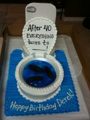 Funny 40th Birthday Cake
