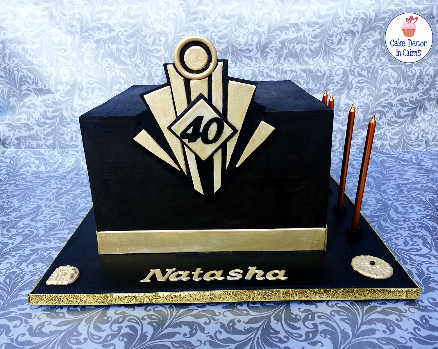 12 Square Cakes Great Gatsby Photo Great Gatsby Black And Gold
