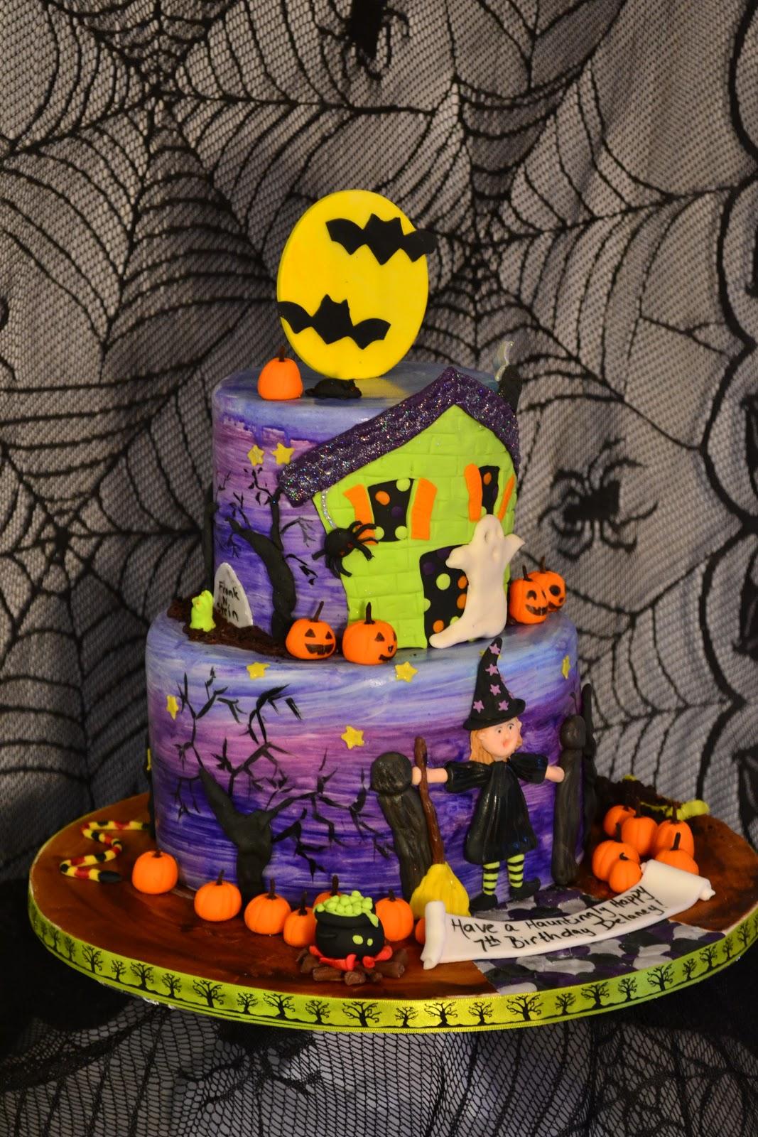 10 Halloween Birthday Cakes Bakery Photo Halloween Birthday Cakes
