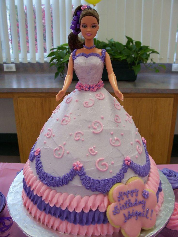 12 Barbie Birthday Cakes With Flowers Easy Photo Happy Birthday