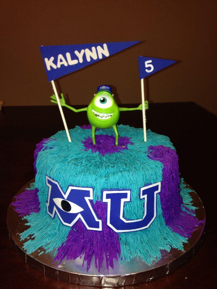 Marvelous 13 Monster U Birthday Cakes Photo Monsters University Cake Funny Birthday Cards Online Hendilapandamsfinfo