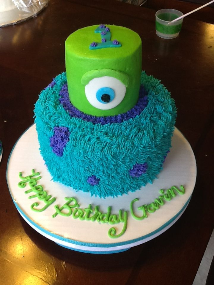 Astounding 9 Where To Order Monster Inc Bday Cakes Photo Monsters Inc 1St Personalised Birthday Cards Veneteletsinfo