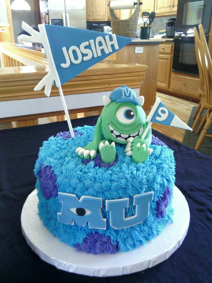Magnificent 13 Monster U Birthday Cakes Photo Monsters University Cake Personalised Birthday Cards Veneteletsinfo