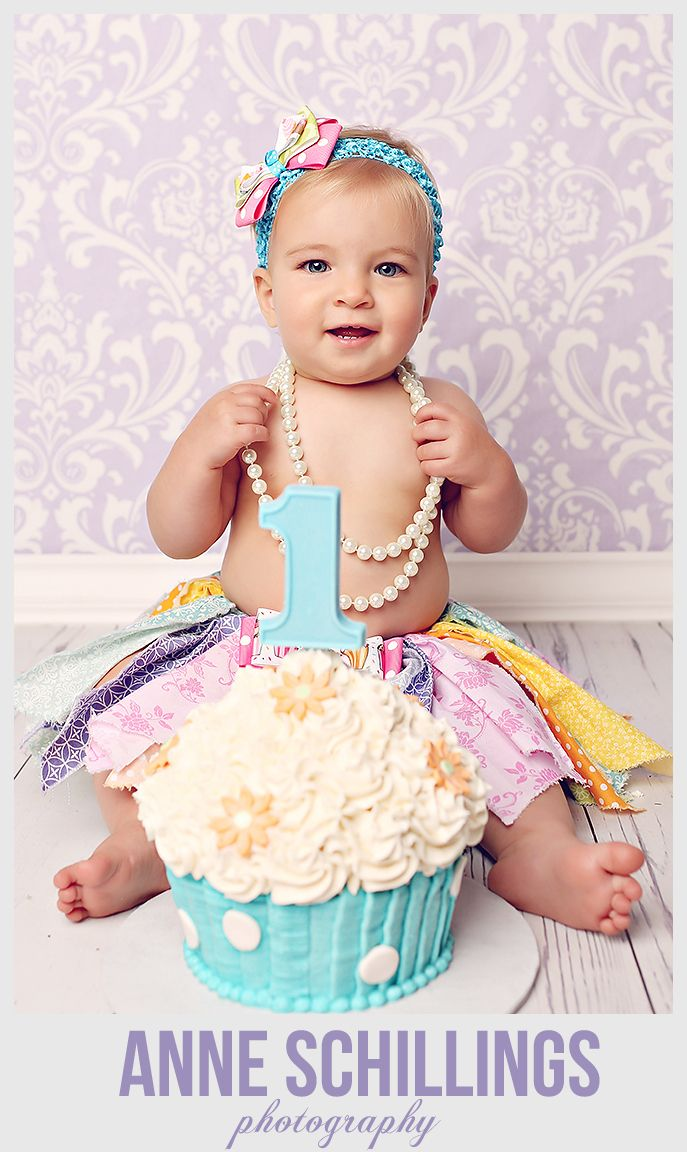 7 One Year Old Baby Girl Cupcakes Photo One Year Old Girl Birthday