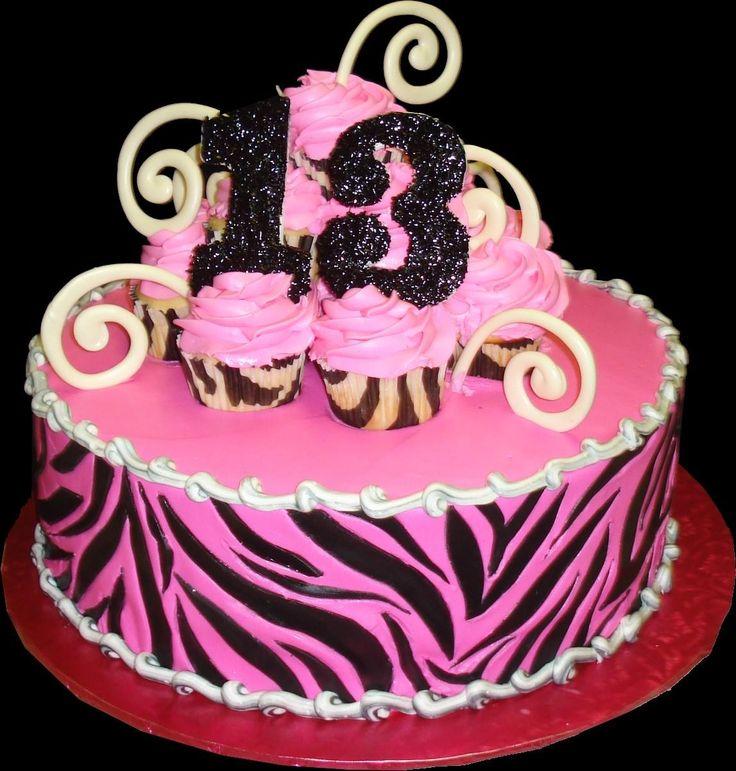 Pink 13th Birthday Cake