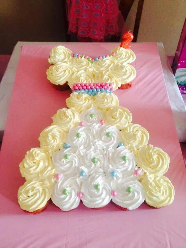 Princess Dress Pull Apart Cake Cupcakes
