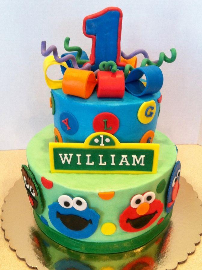 Peachy 11 Sesame Street Birthday Sheet Cakes Photo Sesame Street Cake Personalised Birthday Cards Petedlily Jamesorg