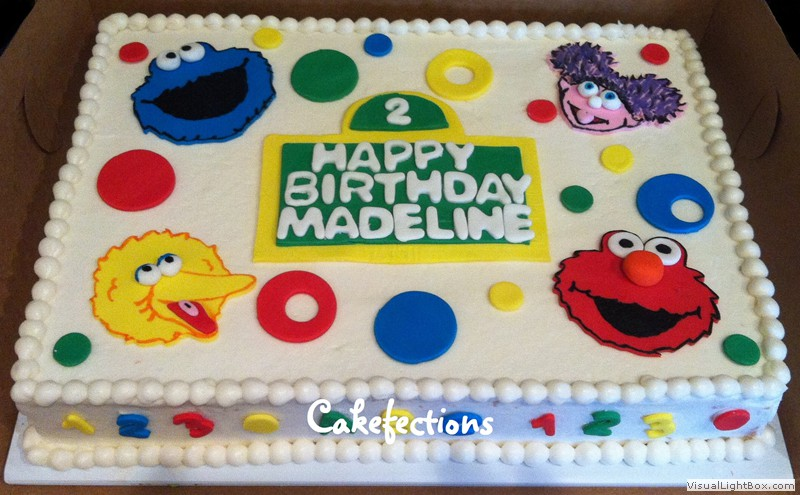 Phenomenal 11 Sesame Street Birthday Sheet Cakes Photo Sesame Street Cake Funny Birthday Cards Online Hetedamsfinfo