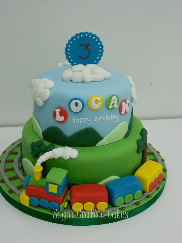7 Train Birthday Cakes For Boys Photo