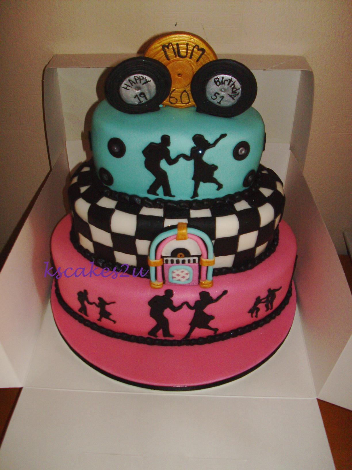 1950s Theme Birthday Cake Ideas