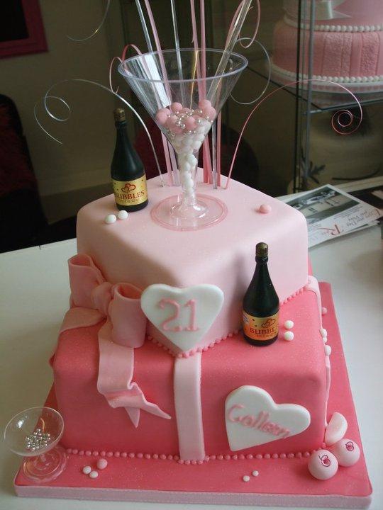 Astonishing 11 Custom Birthday Cakes Martini Glass Photo Pink Fondant Funny Birthday Cards Online Benoljebrpdamsfinfo