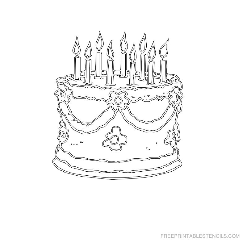 Amazing 11 Printable Stencil Patterns For Cakes Photo Birthday Cake Personalised Birthday Cards Vishlily Jamesorg