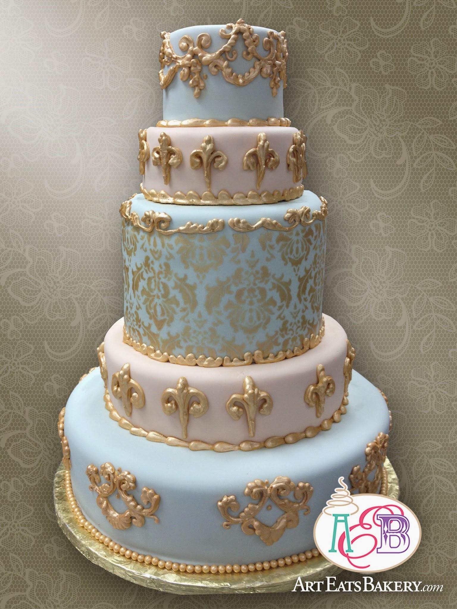 11 Blue And Black Elegant Birthday Cakes Photo Tiffany Blue