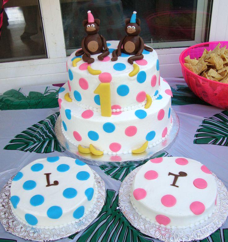 Swell 5 Boy Girl Twin Birthday Cupcakes Photo Twin 1St Birthday Cake Funny Birthday Cards Online Inifodamsfinfo