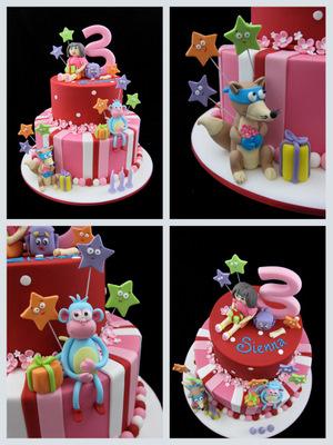 Strange 9 Dora 3Rd Birthday Cakes For Little Girls Photo Dora Explorer Funny Birthday Cards Online Alyptdamsfinfo