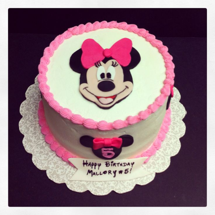 12 Simple Minnie Mouse Birthday Cakes Photo Easy Minnie Mouse
