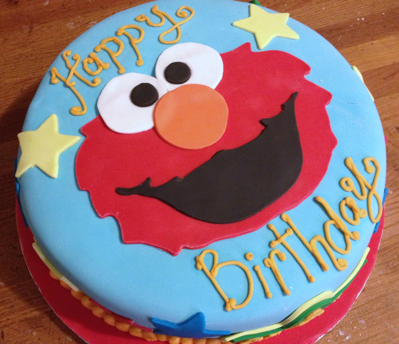 10 Elmo Bday Cakes Photo