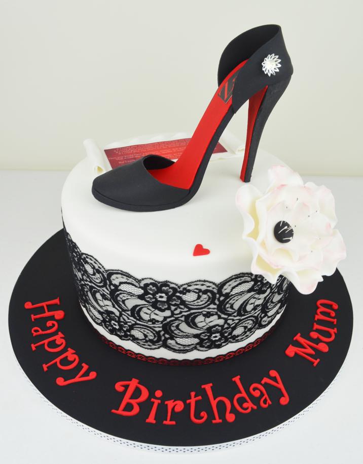 9 Stiletto Happy Birthday Cakes Photo Shoe Box Cake With Stiletto