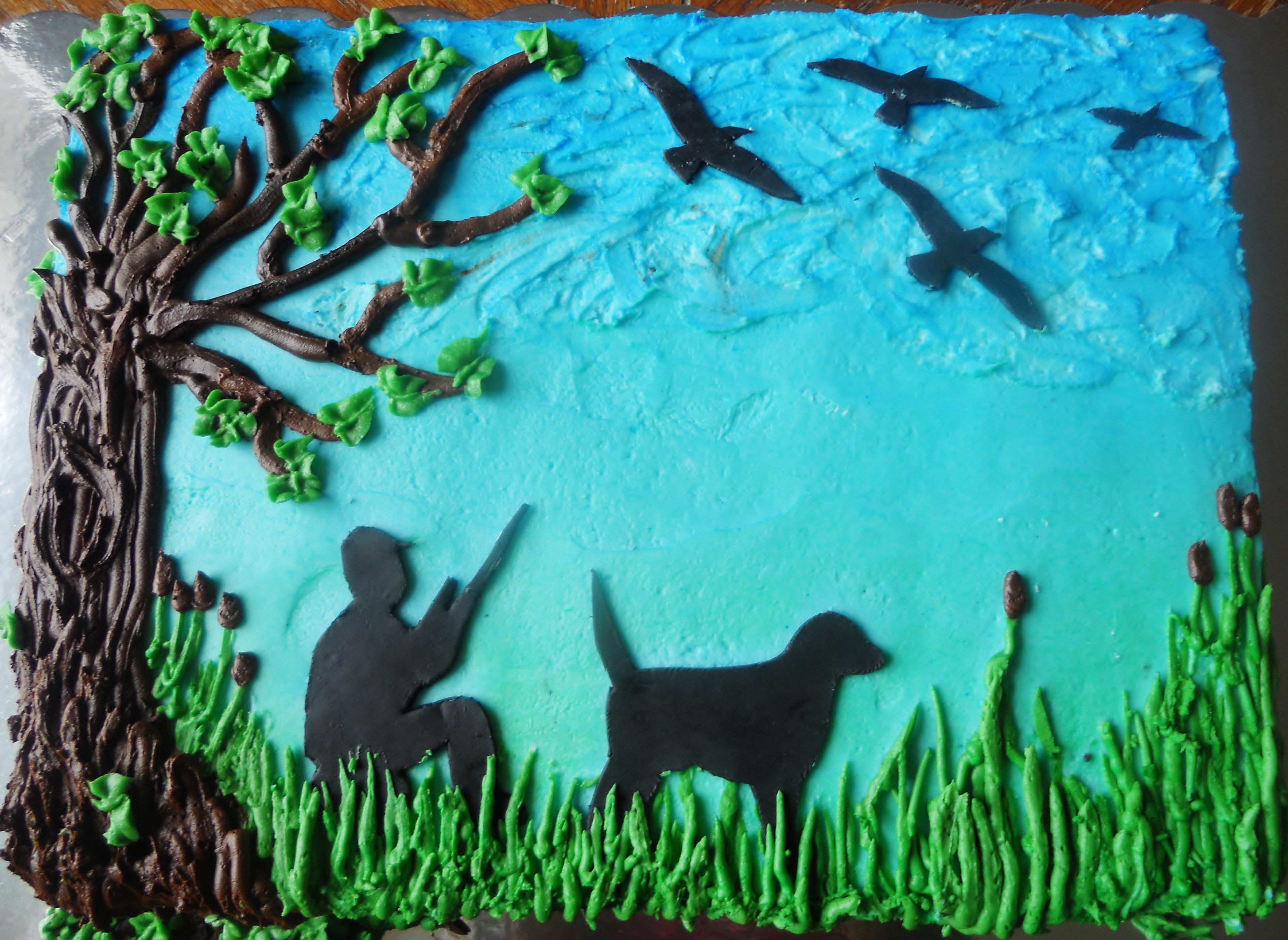 9 Sheet Cakes For A Hunter Photo Hunting Sheet Cake Deer Hunting