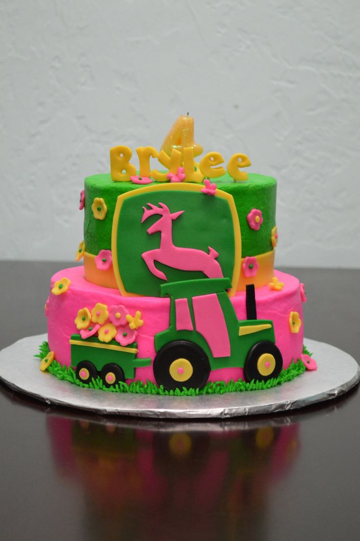 Enjoyable 11 John Deere Tractor Cakes For Little Girls Photo John Deere Funny Birthday Cards Online Elaedamsfinfo