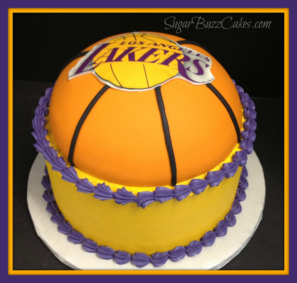 8 La Lakers Birthday Sheet Cakes Photo La Lakers Birthday Cake