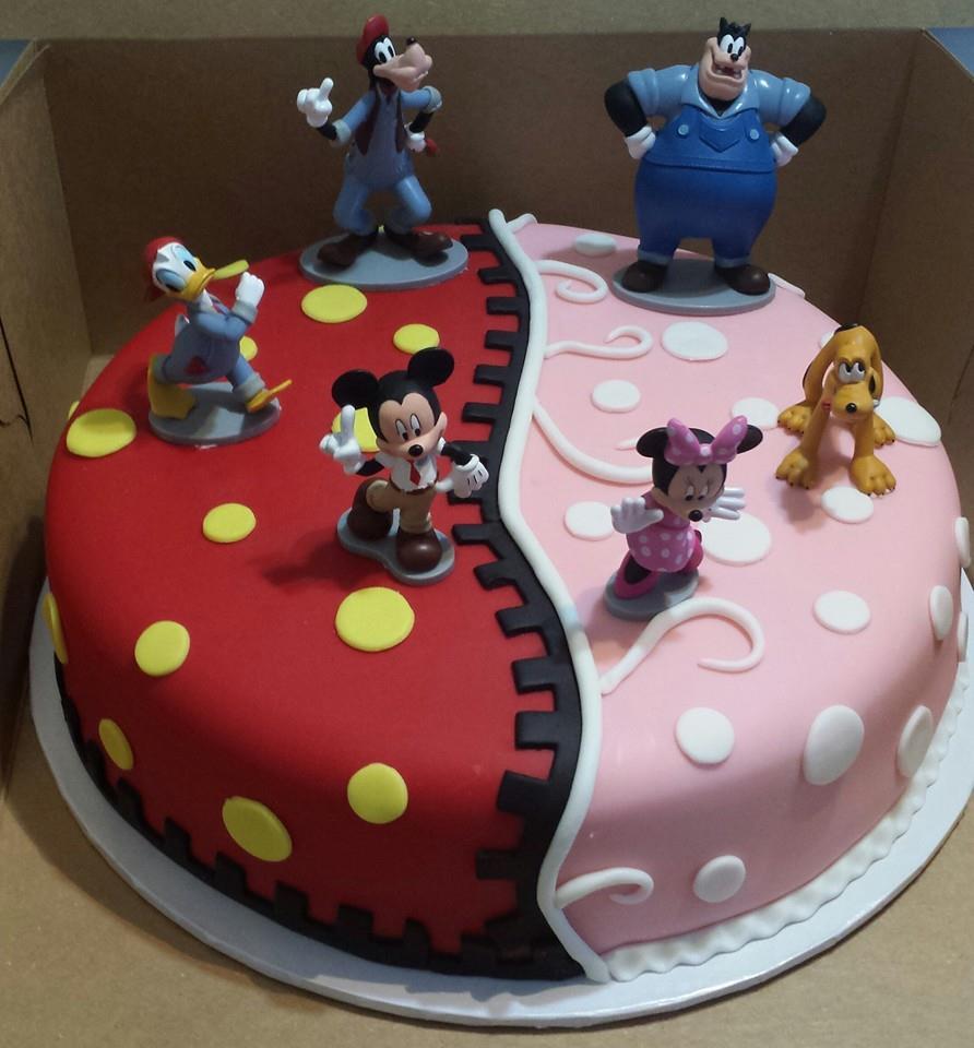 Pleasant 6 Half Mickey And Minnie Mouse Cakes Photo Mickey And Minnie Personalised Birthday Cards Vishlily Jamesorg