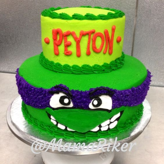Admirable 9 Ninja Turtle Birthday Cakes Buttercream Photo Ninja Turtle Funny Birthday Cards Online Fluifree Goldxyz