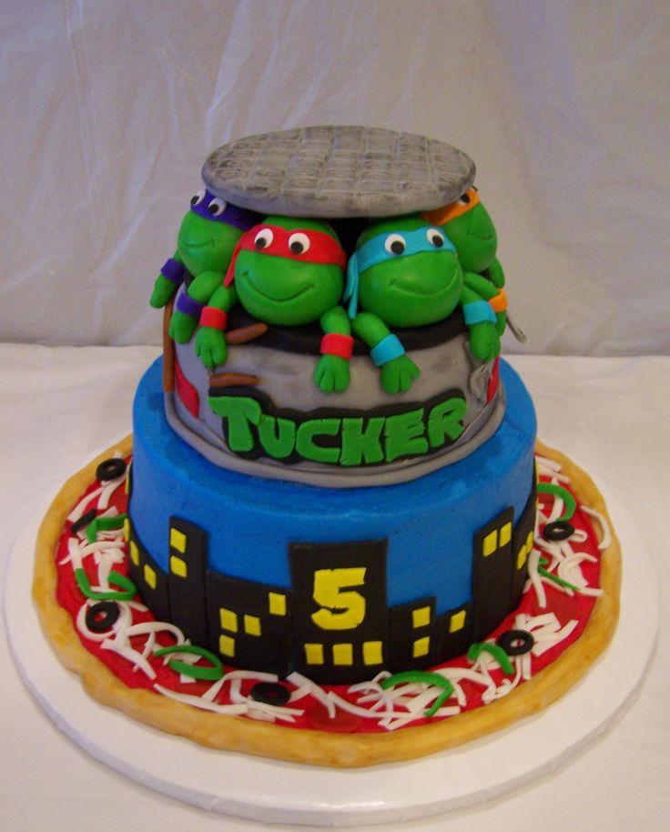 10 Tmnt Dw Bday Cakes Photo Ninja Turtle Birthday Cake Ninja