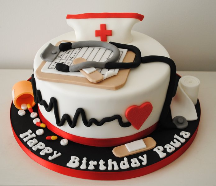 10 Shot Nurse Themed Cakes Photo Nurse Cake Ideas Nurse Themed