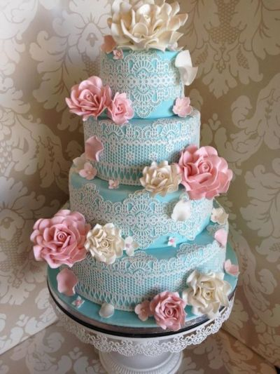 6 Blue Pink Wedding Cupcakes Photo - Pink and Blue Wedding Cake ...