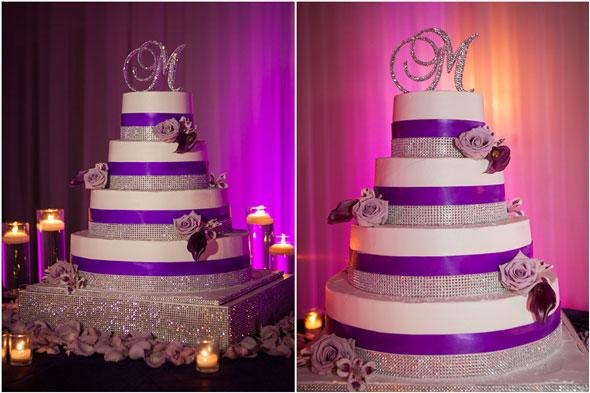 11 Bling Wedding Cakes Purple And Orange Photo - Purple Wedding Cake ...