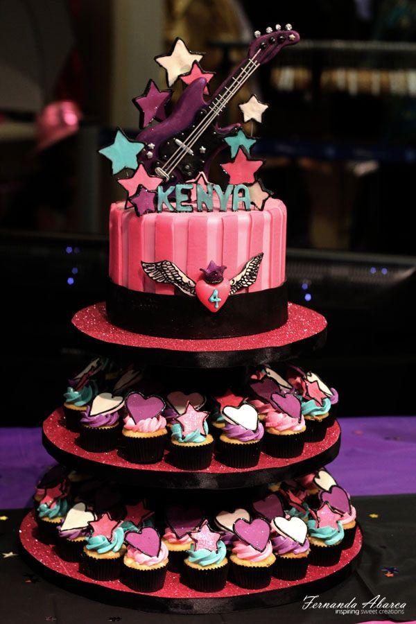 Stupendous 8 Rockstar Birthday Cakes Photo Rock Star Birthday Cake Ideas Funny Birthday Cards Online Kookostrdamsfinfo