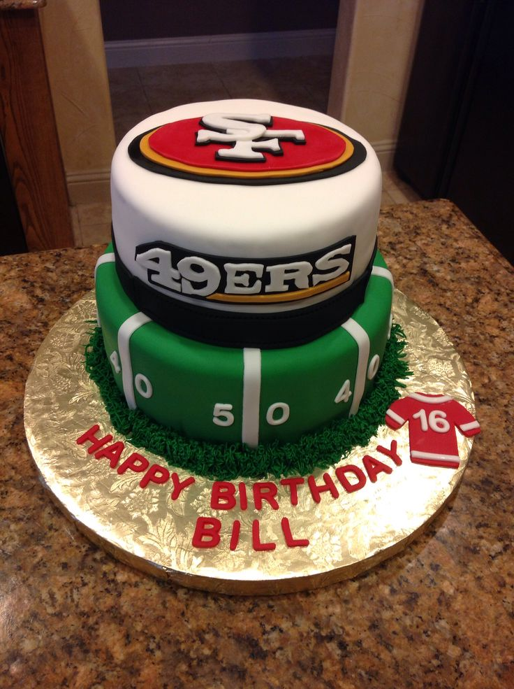 San Francisco 49ers Birthday Cake