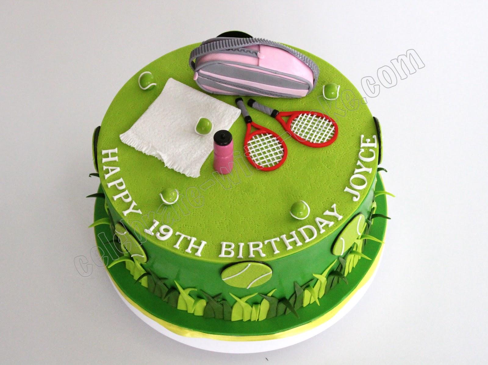 Incredible 12 Tennis Theme Birthday Cakes Photo Tennis Themed Birthday Cake Funny Birthday Cards Online Alyptdamsfinfo