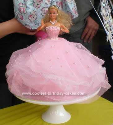 9 Easy Barbie Birthday Cakes Photo Easy Barbie Birthday Cake Ideas