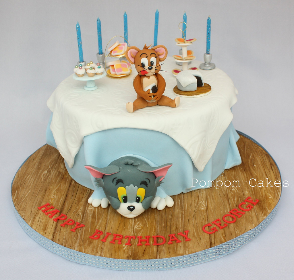 Fine 10 Tom And Jerry Birthday Cakes For Boys Photo Tom And Jerry Birthday Cards Printable Trancafe Filternl