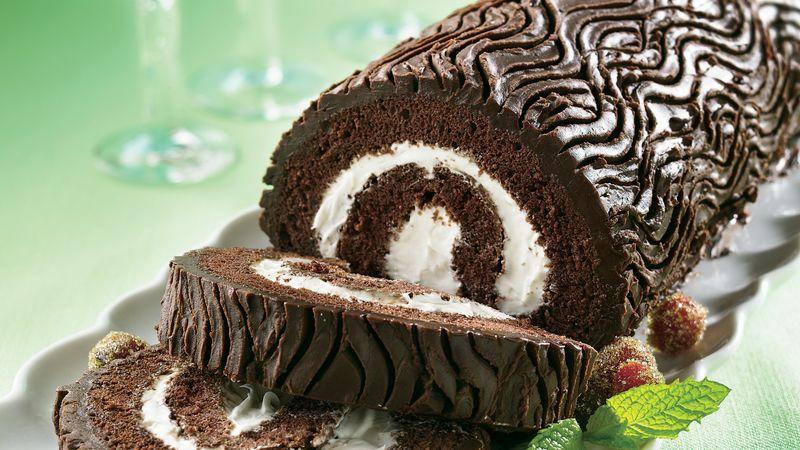 yule log cake recipe - Christmas Yule Log Cake