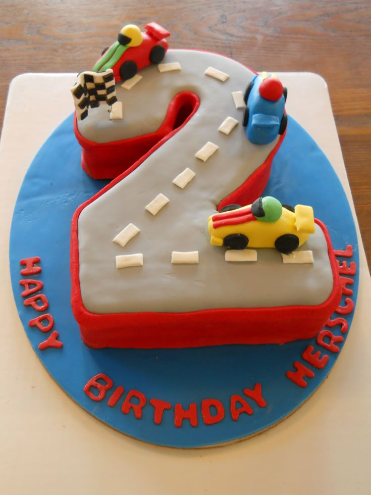 Fantastic 6 Racetrack Birthday Cakes For Two Year Olds Photo 2 Year Old Funny Birthday Cards Online Hetedamsfinfo