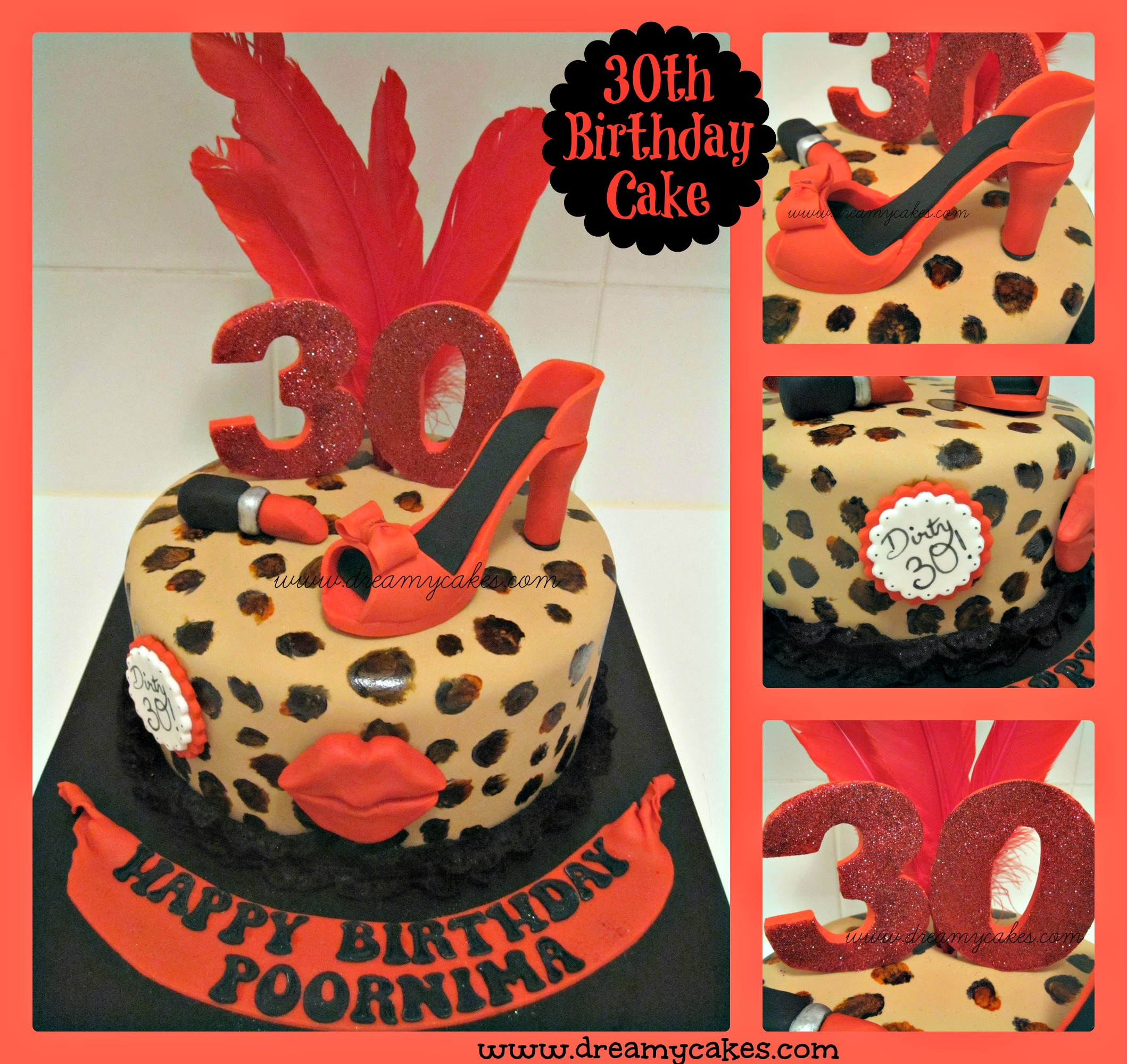 Amazing 10 Animal Print Birthday Cakes For Women Photo Black And Pink Funny Birthday Cards Online Overcheapnameinfo