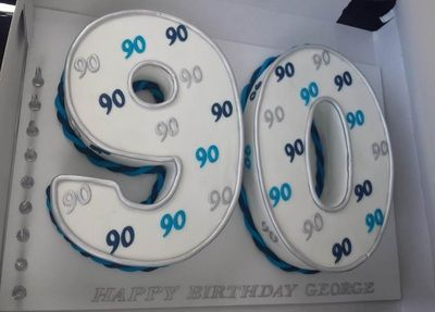 90th Male Birthday Cake
