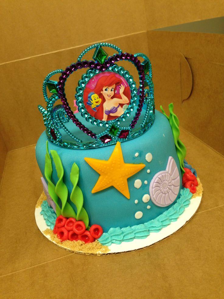 Cool 8 Birthday Cakes Little Mermaid 2 Photo Ariel Little Mermaid Birthday Cards Printable Trancafe Filternl