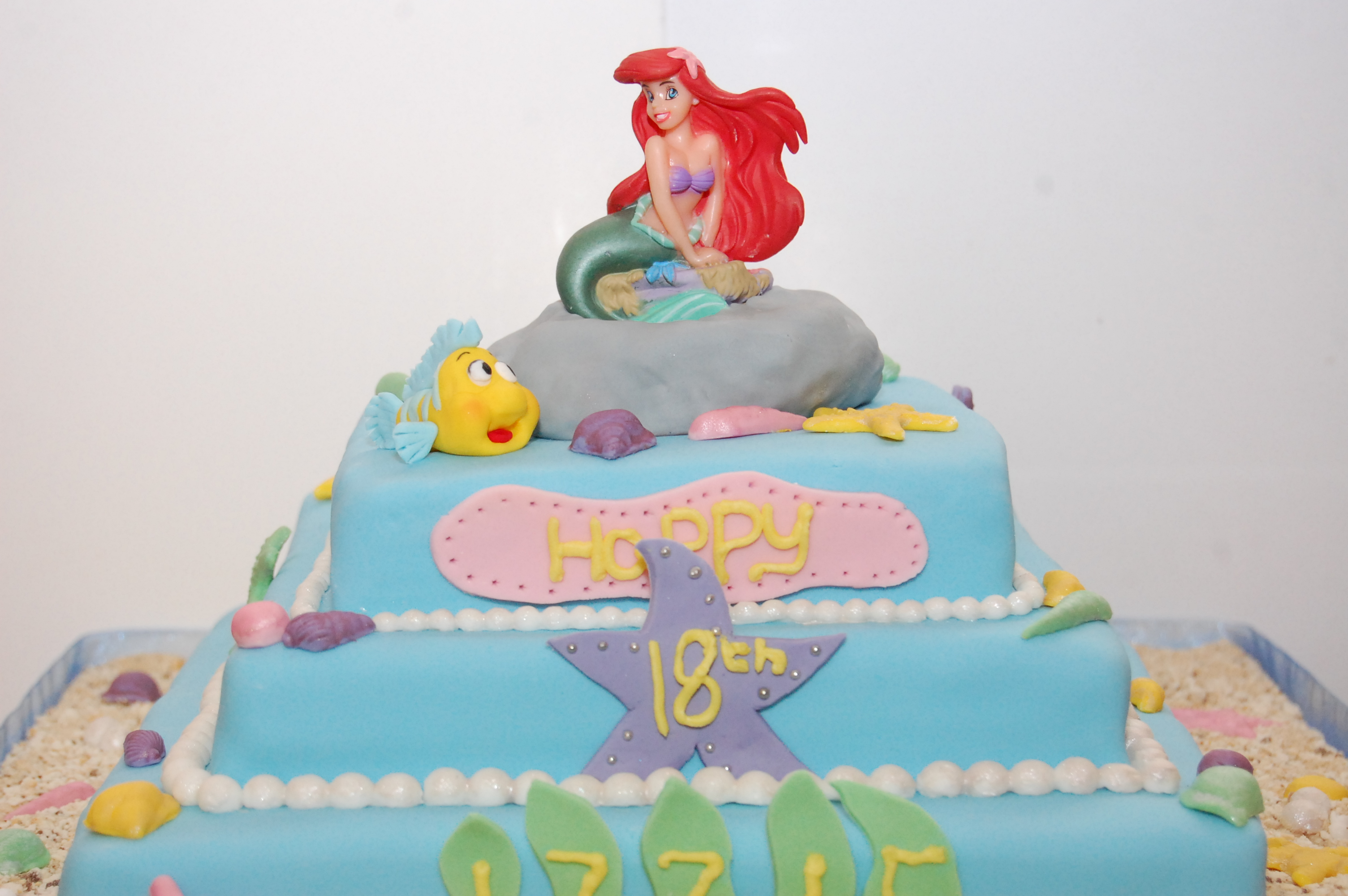 Fabulous 8 Birthday Cakes Little Mermaid 2 Photo Ariel Little Mermaid Personalised Birthday Cards Bromeletsinfo