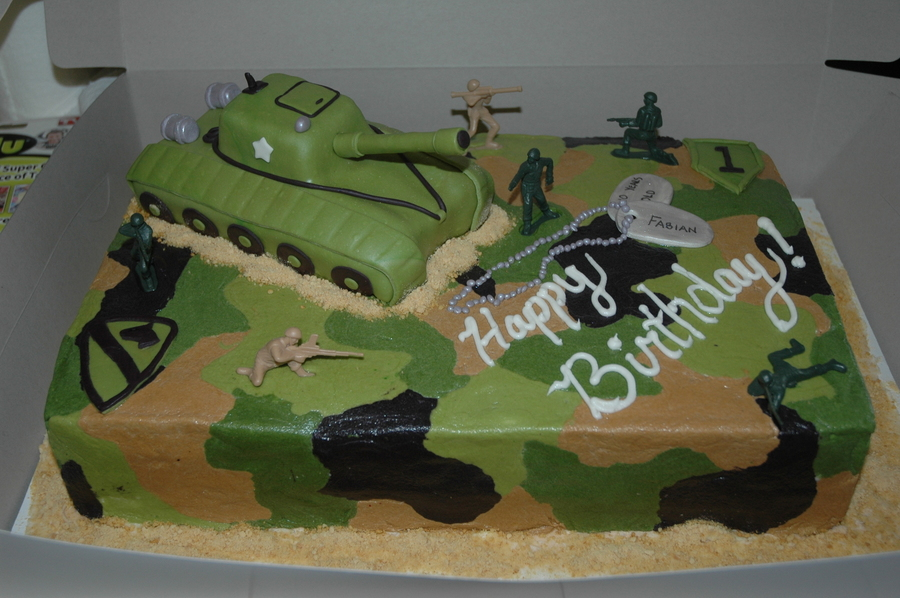 Wondrous 12 Army Birthday Cakes For Boys Photo Army Theme Birthday Cake Funny Birthday Cards Online Alyptdamsfinfo