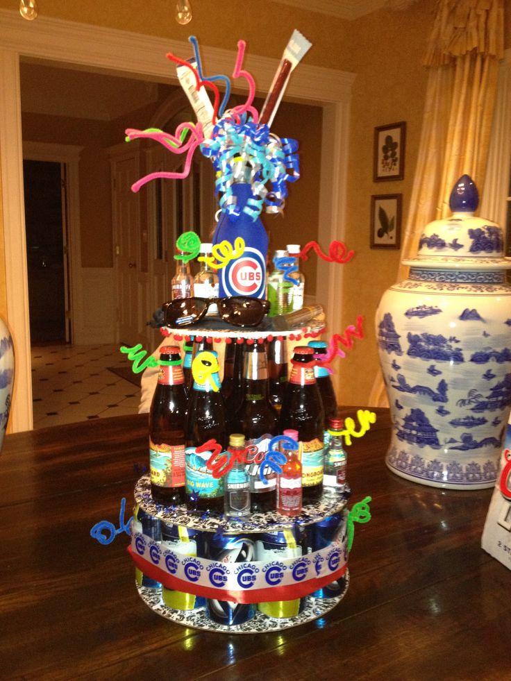 Pleasing 10 Beer Cakes Presents Photo Diy Beer Can Cake Beer Birthday Funny Birthday Cards Online Overcheapnameinfo
