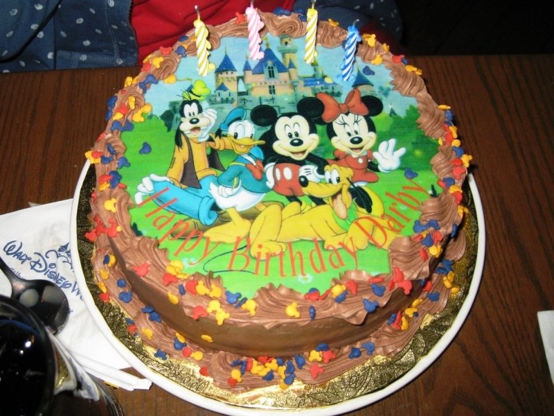 Birthday Cakes At Disney World