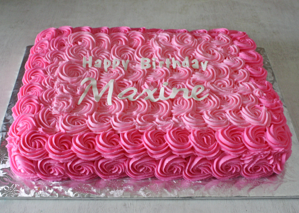 11 Rose Sheet Cakes For Girls Photo 1st Birthday Sheet Cake